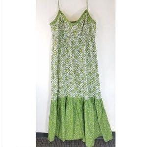 LOFT Floral Tiered Peasant Boho Maxi Dress